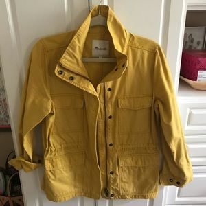 Madewell cotton jacket small worn once gold